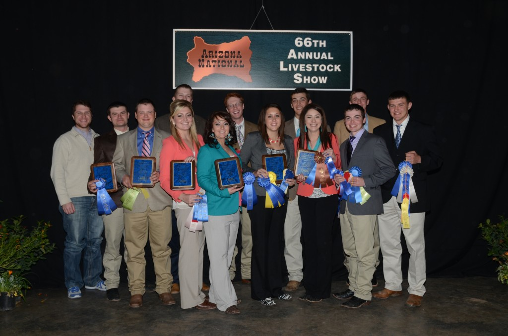 Connors State College's livestock judging team won the overall championship in both the sophomore and freshmen divisions at the Arizona National Livestock Show in Phoenix, Ariz.